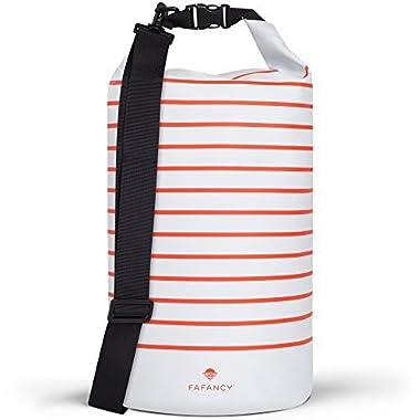 FAFANCY Dry Bag Waterproof - Beach Bag - Beach Essentials - Camping Gear 15l Dry Bags Waterproof For Kayaking Boating and Beach