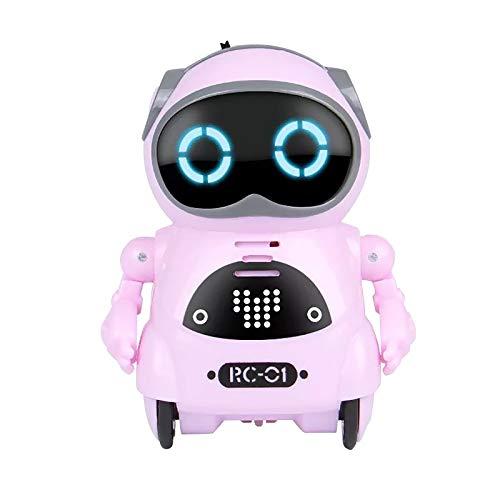 Roboter Spielzeug für Kinder, Mini Alloy Robot multifunktionales Musik Smart Elektronisches Speech Dialogue Sensing...