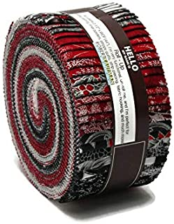 Jelly Roll Holiday Flourish Scarlet Colorstory Red White Black Silver Metallic Winter Christmas 2.5