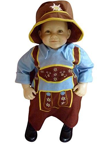 Ikumaal Oktoberfest-Kostüm Bayer, F121 Gr. 74-80, Baby-Kostüm, traditionelles Bayern-Kostüm für Babies, Fasching Karneval, Klein-Kind Karnevalskostüme, Baby-Faschingskostüme, Weihnachts-Geschenk