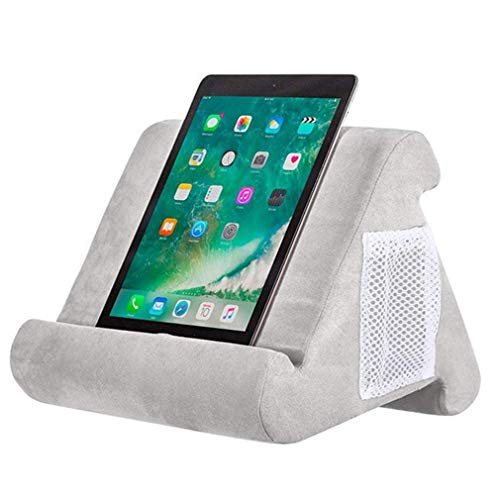 Sebastianee Multi-Angle Laptop Computer Stands Soft Pillow Stand Tablet Phone Holder Reading Bracket For Ipad Phone,Gray