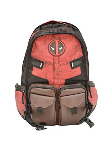 WangMaZi Backpack Batman Deadpool fashion laptop bag Travel bag Commuter bag High capacity student Unisex child gift 36x20x46cm