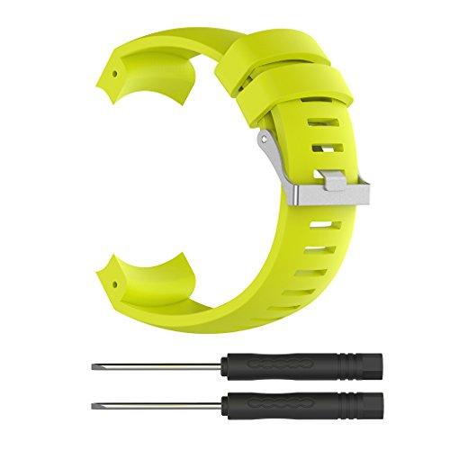 NA. Correa de silicona de repuesto para reloj GPS deportivo SUUNTO Core ALU negro