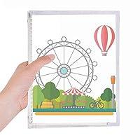 観覧車のバルーンの遊園地 硬質プラスチックルーズリーフノートノート