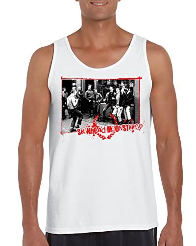 Moonstomp Skinhead Oi Punk - Camiseta sin mangas para hombre, blanco, L