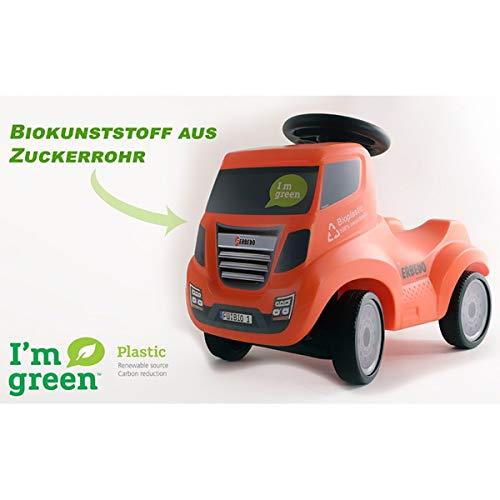 FERBEDO 54055 054055 Bio-Truck, orange-#HowDareYou-Das erste 100% recyclebare Rutschauto der Welt Rutscher