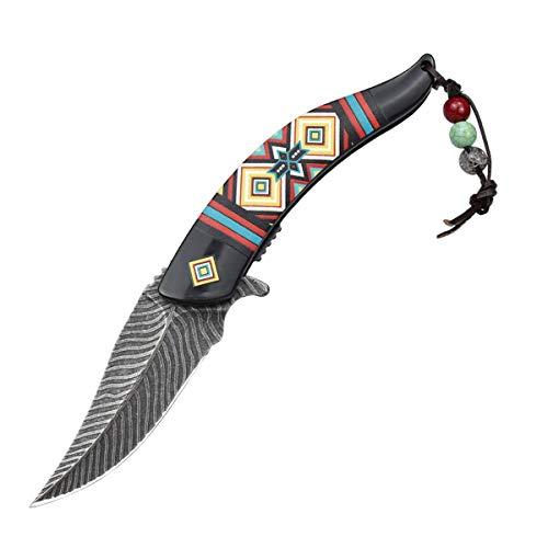 AUBEY Klappmesser Taschenmesser EDC Messer Outdoor 8CR13MOV Klinge, ABS Material Griff,Einhand Angelmesser Einhandmesser Outdoormesser Klappbar (Schwarz)