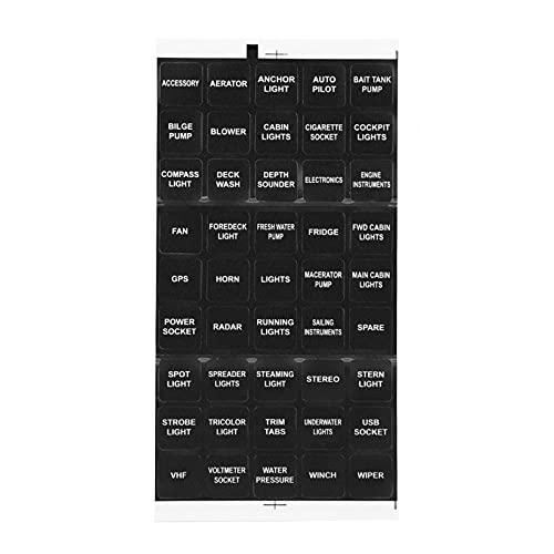 Interruptor basculante de encendido/apagado Panel de interruptores basculantes para accesorios de barcos para sobrecorriente