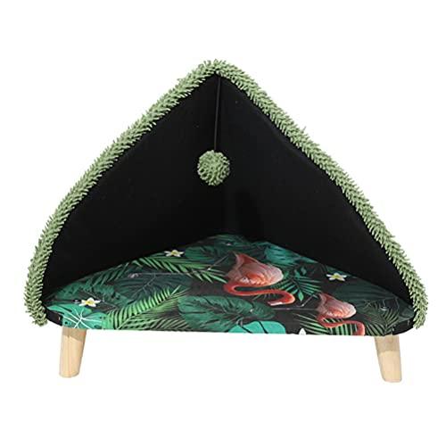 Balacoo Casa de Gato Triangular Nido para Mascotas Mascota Gato Cojín para Dormir Suministros para Mascotas