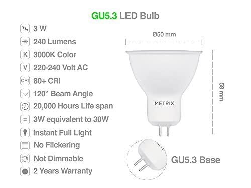 Metrix M-GU5.3B-3W