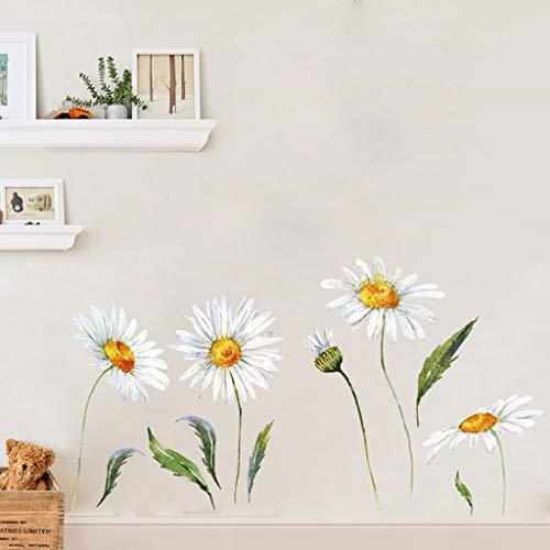 goodjinHH Wandtattoo Blumen Pflanzen Wandbild: 40X60cm | Wandsticker Blumen Pflanzen Aufkleber-Wand-Deko für Wohnzimmer, Garderobe, Flur, Fenster (C)