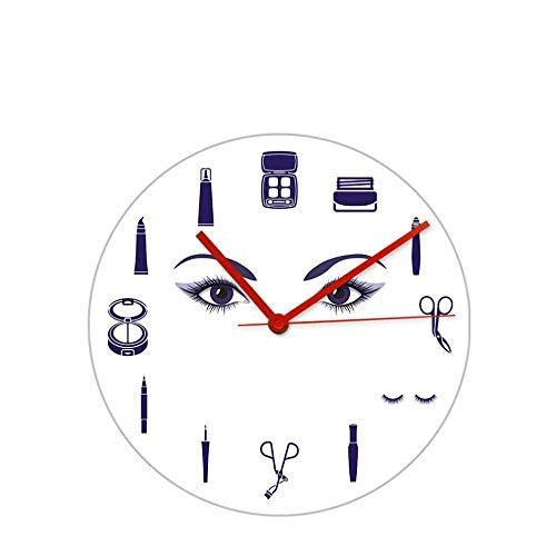 LISH Reloj de Pared de Alta Gama Lávese de Las Pestañas Extensión de la Pared de la Moda Reloj de Pared para Niña Salón de Belleza Estudio Palestes Herramientas Maquillaje Arte Masc