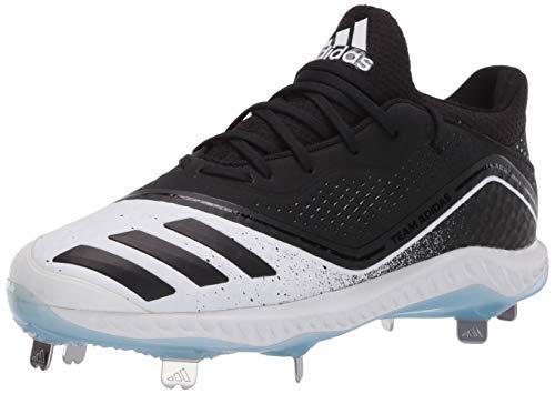 adidas Women's Icon V Bounce Baseball Shoe, core Black/core Black/Glow Blue, 8 M US