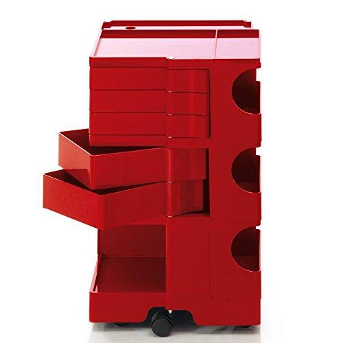 Boby M 35 Rollcontainer, rot 5 Schubkästen BxHxT 43x73,5x42cm