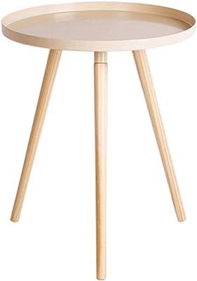 SHPING サイドテーブル 小さなコーヒーテーブル、炭素鋼製のテーブルトップ、ミニラウンドテーブル、寝室のベッドサイドティーテーブル、取り外し可能なソファコーナーテーブル、多機能、安定性と耐久性 (Color : Yellow)