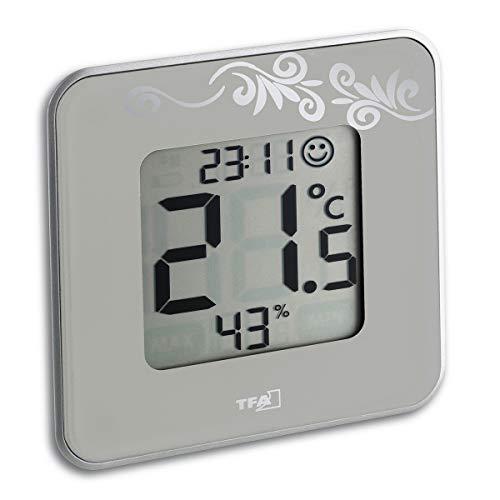 TFA Dostmann Style digitales Thermo-Hygrometer, 30.5021.02, taupe, zur Raumklimakontrolle
