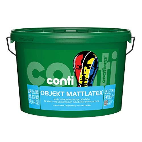 Conti Objekt MattLatex - Wandfarbe - matte Dispersionsfarbe - hohes Deckvermögen - bewährte Malerqualität (12,5 Liter)