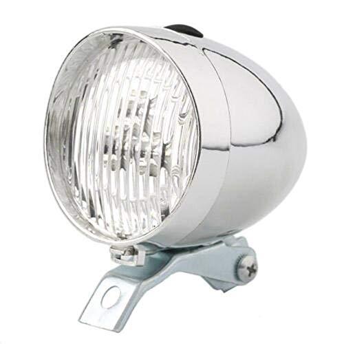 MZY1188 Retro Fahrrad Scheinwerfer, 3 LED Rücklicht Fahrrad Chrom Visier Scheinwerfer Fahrrad Licht Set