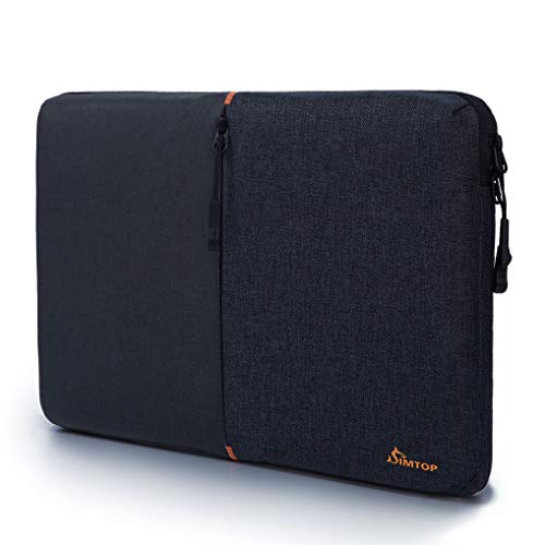SIMTOP 13 Inch laptop Sleeve Case Compatible with New MacBook Air 13 MacBook Pro/13' Chromebook/Ultrabook/12.9 inch 2020 iPad Pro, Surface Notebook,Waterproof Shockproof Lining Padded Carrying Bag