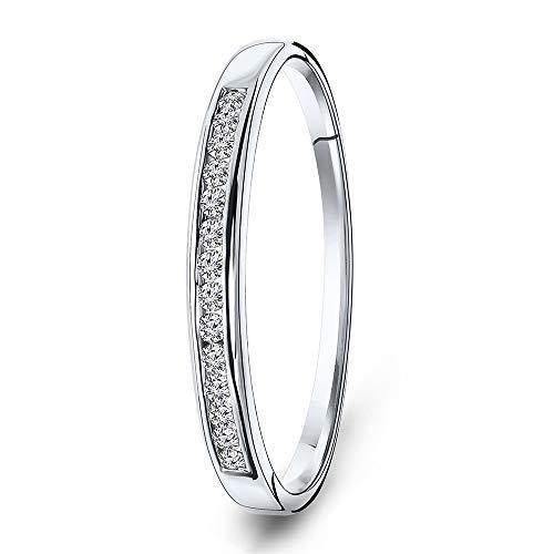 Miore Ring Damen Ewigkeitsring Weißgold 18 Karat / 750 Gold Diamant Brillianten 0.10 ct …