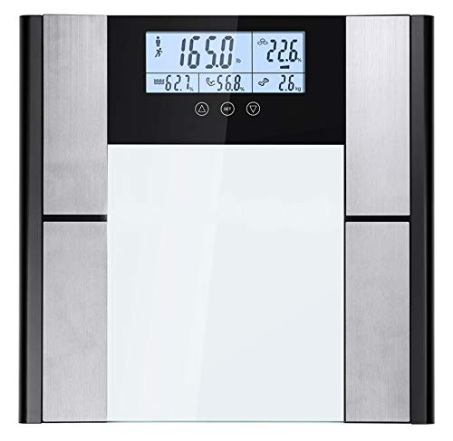 Dcodes fitness Form Digital Scale and Body Analyzer For Body Fat%, Weight, Muscle Mass, Bone Density and Water Weight Scale Reading, Silver