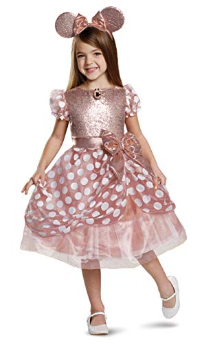 Disney Rose Gold Minnie Deluxe Girls' Costume