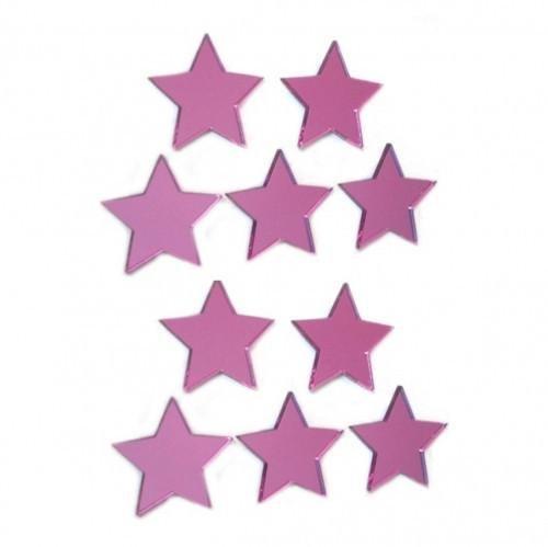 Miroir décoratif Mini Star Bundle – Lot de 10 (6 x 6 cm)