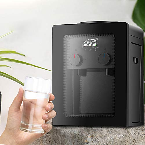 OUKANING Elektrischer wasserspender,Cool&Hot Wasserspender r Thermopot Wasserspender Thermoskanne Büro 550W Tischwasserspende für Trinkwasser
