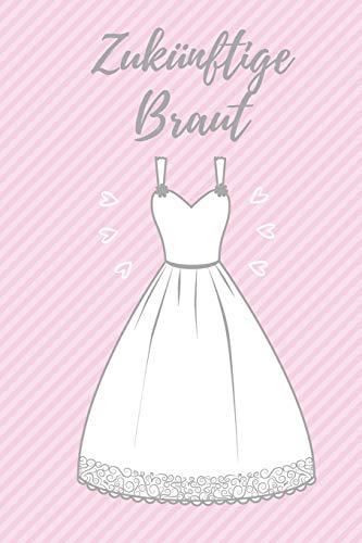 Zukünftige Braut: Auf 120 linierten Seiten ca. im A5 Format haben viele Ideen für die Hochzeit rund um dein Hochzeitskleid Platz.