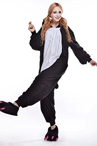 Pijamas Enteros Cosplay Adulto Ropa de Dormir Hombre Camisones Disfraces Carnaval Ropa Pijamas de Una Pieza Mujer Pingüino Negro