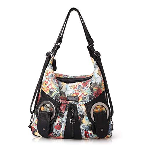 Women Handbags PU Leather Shoulder Bags Top-handle Satchel Purse