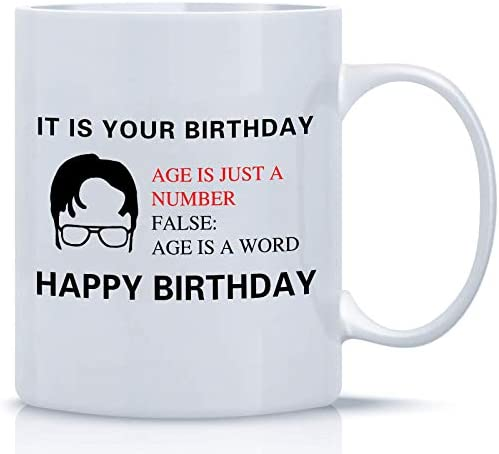 ZOORON It Is Your Birthday The Office Coffee Mug A Coffee Cup Birthday Gift Set For Dwight Schrute product image