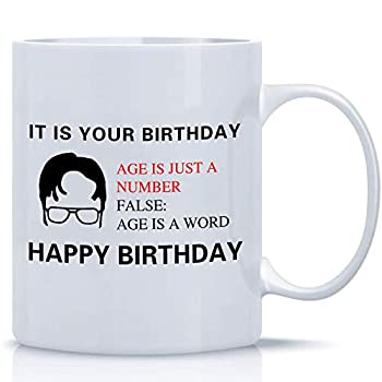 ZOORON It Is Your Birthday The Office Coffee Mug A Coffee Cup Birthday Gift Set For Dwight Schrute Fans