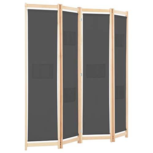 Tidyard 4-teiliger Raumteiler Trennwand Paravent Mit 6 Taschen auf den Paneelen,Paravent Faltbarer Sichtschutz Besteht aus 4 Elementen,Abmessungen:160 x 170 x 4 cm (L x H x T) Diverse -Farben