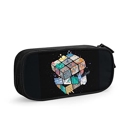Colorido cubo de Rubik's Pen Case Durable Papelería Bolsa portátil de la pluma de la escuela Oficina Pen Bag Gran capacidad lápiz
