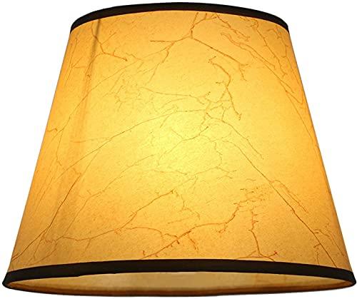 Eastlion Pantalla de lámpara de 7,5 pulgadas, E27/E14, PVC, para lámpara de mesa/lámpara de pared, color amarillo