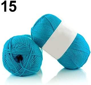 Knitting Yarn, Crochet Yarn, yanQxIzbiu 1Pc 50g Per Skein Soft Bamboo Crochet Cotton Knitting Baby Knit Wool Yarn - #15 Blue