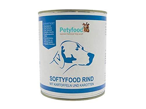 Petyfood Hundefutter nass Getreidefrei - Nassfutter Rind für Hunde 6x800g (6er Pack)
