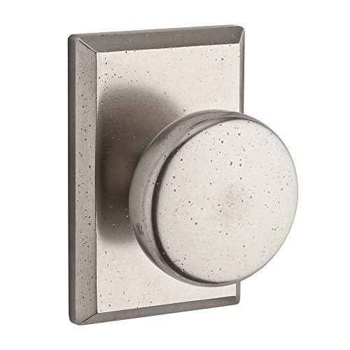Baldwin PSRUSRSR492 Reserve Passage Rustic with Rustic Square Rose in White Bronze Finish