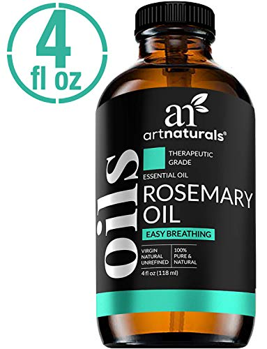 ArtNaturals 100% Pure Rosemary Essential Oil - (4 Fl Oz / 120ml) - Undiluted Therapeutic Grade - Focus Think and Breathe