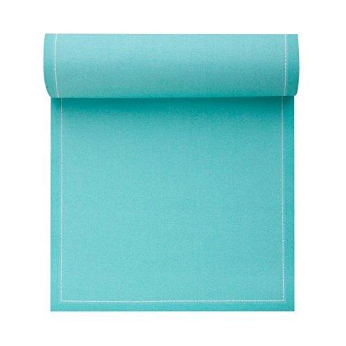 Serviette de table en coton 20x20cm - Idéale pour fête, anniversaire, cocktail - Rouleau de 25 serviettes - Bleu Aiguemarine