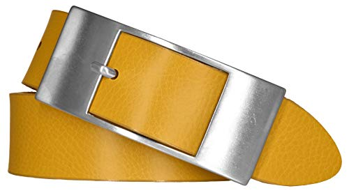 Mytem-Gear Damen Leder Gürtel 35 mm Nappaleder Damengürtel (80, Ocker)