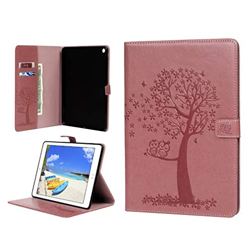 Vogu'SaNa Compatible for Tablet Case iPad Air/iPad 5 Polyurethane Leather Protective Flip Cover Owl Tree Pattern Skin Cover Stand Compartments Magnetic Cover Shell Sleeves
