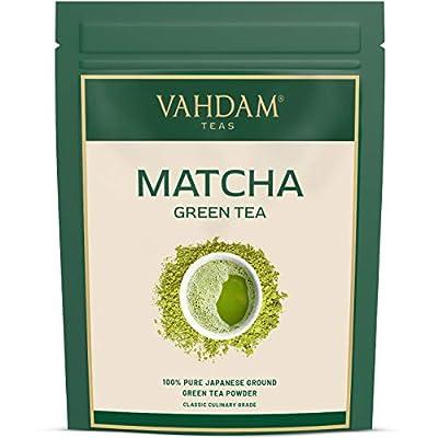 VAHDAM, Matcha Tea Powder (50 Cups) - 100% Pure Authentic Japanese Matcha Green Tea Powder   Classic Culinary Matcha from Japan 137x Anti-OXIDANTS   Pure Matcha Powder for Latte Mix & Smoothies   3.53oz