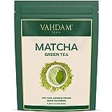 VAHDAM, polvo de té verde matcha (100 g, 50 tazas), polvo de matcha japonés puro y sin mezclar 100% certificado, té de matcha de grado culinario clásico | 137x Anti-OXIDANTES