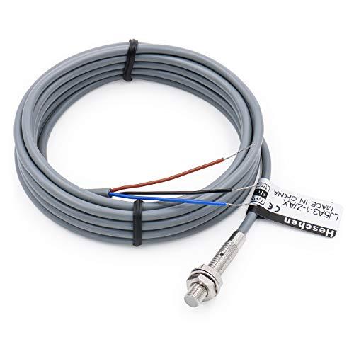 Heschen M5 Induktiver Näherungssensor Schalter Bildschirm Abschirmung Typ LJ5A3-1-Z/AX Detektor 1mm 6-36VDC 200mA NPN normal geschlossen(NC) 3-Draht