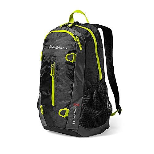 Eddie Bauer Unisex-Adult Stowaway 20L Packable Pack, Black Regular ONESZE