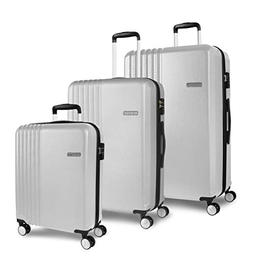American Tourister Beachrider 3-Piece Suitcase Set 78 cm 99 L Silver