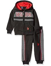 U.S. Polo Assn. Baby Boys' 2 Piece Fleece Jog Set