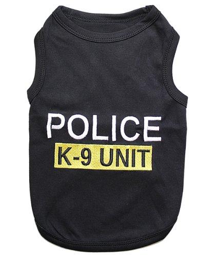 Parisian Pet Dog Cat Clothes Tee Shirts Police Dog T-Shirt(Police, M)